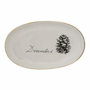 Bílý kameninový talíř Bloomingville Maria, ⌀ 20 cm