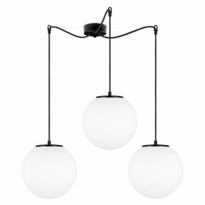 Černé tříramenné závěsné svítidlo s bílými stínidly Sotto Luce Tsuki, ⌀ 25 cm