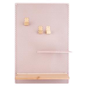 Světle růžová kovová nástěnka PT LIVING Perky, 34,5x52,5cm