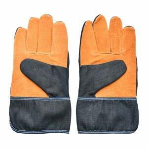 Modro-oranžové zahradnické rukavice Esschert Design Denim