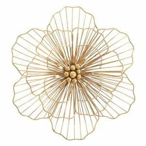 Nástěnná dekorace ve zlaté barvě Mauro Ferretti Flower Stick, 45x42cm