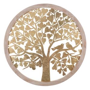 Nástěnná dekorace ve zlaté barvě Mauro Ferretti Tree, ø80cm