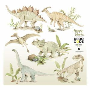 Sada nástěnných dětských samolepek s motivy dinosaura Dekornik Happy Dino, 70 x 70 cm