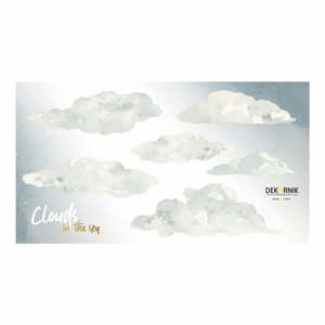 Sada nástěnných samolepek s motivem mraků Dekornik