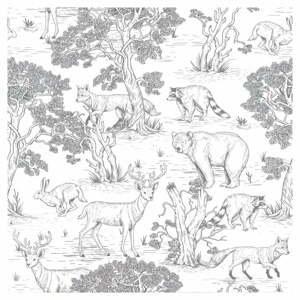 Nástěnná tapeta s motivem lesních zvířat Dekornik