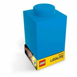 Modré silikonové noční světýlko LEGO® Classic Brick