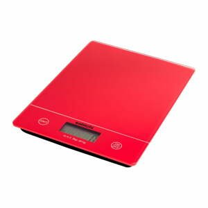 Červená digitální kuchyňská váha Sabichi
