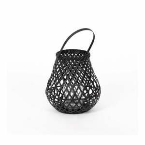 Černá bambusová lucerna Compactor Bamboo Lantern, ⌀ 25 cm