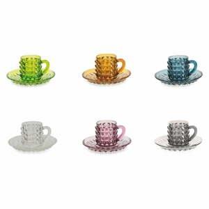 Sada 6 šálků na kávu s podšálky Villad'Este Diamond