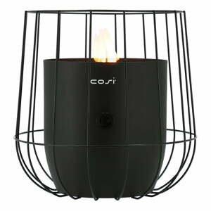 Černá plynová lampa Cosi Basket, výška 31 cm