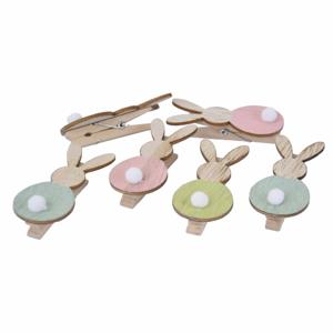 Sada 12 dekorativních kolíčků Ego Dekor Pastel Bunnies
