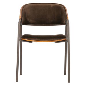 Sada 2hnědých jídelních židlí BePureHome Clan Velvet