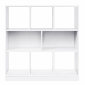 Bílá knihovna Songmics Alan, výška 94,5cm