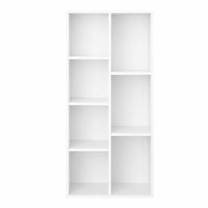 Bílá knihovna Songmics Aisling, výška 106cm