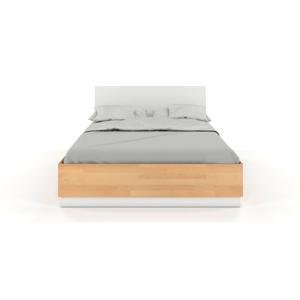 Dvoulůžková postel s úložným prostorem z bukového a borovicového dřeva SKANDICA Finn BC, 140 x 200 cm