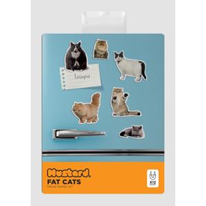 Sada 5 magnetek Just Mustard Fat Cat