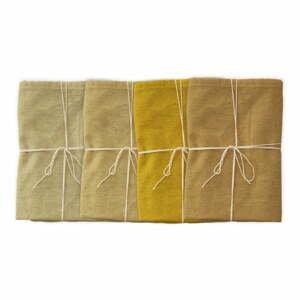 Sada 4 látkových ubrousků s příměsí lnu Linen Couture Beige, 43 x 43 cm