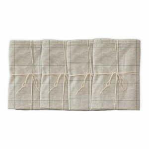 Sada 4 látkových ubrousků s příměsí lnu Linen Couture Green Lines, 43 x 43 cm