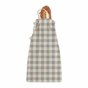 Látková taška na pečivo Linen Couture Linen Bread Bag Grey Vichy