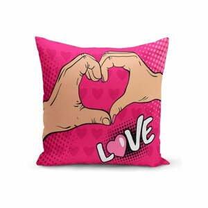 Povlak na polštář Minimalist Cushion Covers Love Hands, 45 x 45 cm