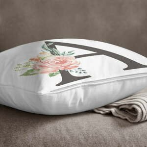 Povlak na polštář Minimalist Cushion Covers Floral Alphabet A, 45 x 45 cm