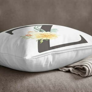 Povlak na polštář Minimalist Cushion Covers Floral Alphabet Z, 45 x 45 cm