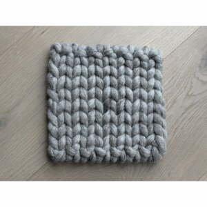 Pískově hnědý pletený podtácek z vlny Wooldot Braider Coaster, 20 x 20 cm