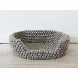 Pískově hnědý kuličkový vlněný pelíšek pro domácí zvířata Wooldot Ball Pet Basket, 60 x 40 cm