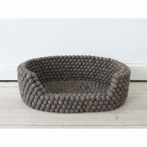 Ořechově hnědý kuličkový vlněný pelíšek pro domácí zvířata Wooldot Ball Pet Basket, 80 x 60 cm