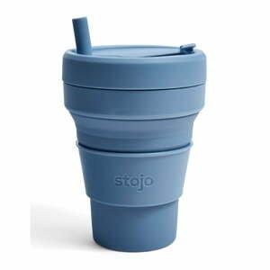 Modrý skládací hrnek Stojo Titan Steel, 710 ml