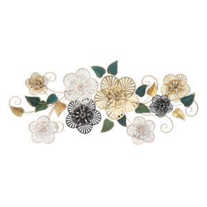 Kovová závěsná dekorace se vzorem květin MauroFerretti Campur-B-, 118x58cm