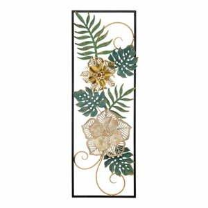 Kovová závěsná dekorace se vzorem květin MauroFerretti Campur-A-, 31x90cm