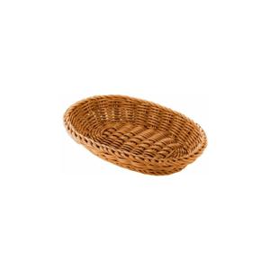 Béžový oválný stolní košík Saleen, 21x15cm