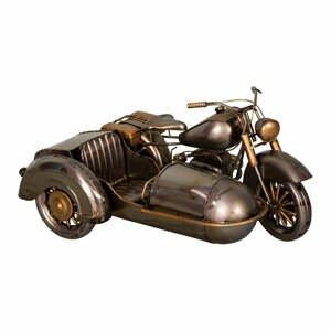 Železná dekorace ve tvaru side káry Antic Line Moto,27x19cm