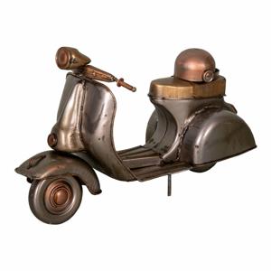 Železná dekorace ve tvaru Vespy Antic Line Moto,23x9,5cm