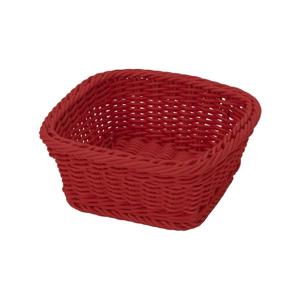 Červený stolní košík Saleen, 19x19cm