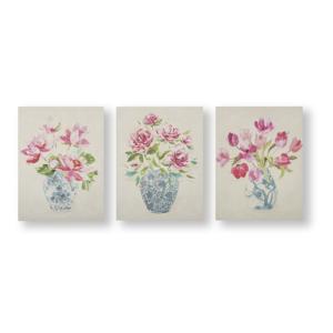 Sada 3 nástěnných obrazů Graham & Brown Florak Ginger Jars