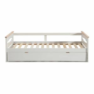 Bílá dětská postel s výsuvným lůžkem Marckeric Elisa,90x190cm