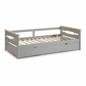 Šedá dětská postel s výsuvným lůžkem Marckeric Elisa,90x190cm