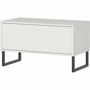 Bílá lavice se zásuvkou Germania Madeo, šířka 75 cm