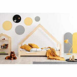 Domečková dětská postel z borovicového dřeva Adeko Loca Ana,100x150cm