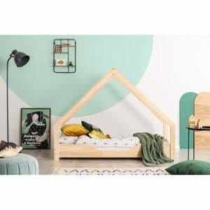Domečková dětská postel z borovicového dřeva Adeko Loca Bon,90x190cm