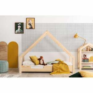 Domečková dětská postel z borovicového dřeva Adeko Loca Cassy,70x140cm