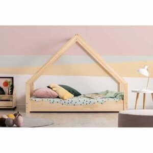 Domečková dětská postel z borovicového dřeva Adeko Loca Dork,100x180cm