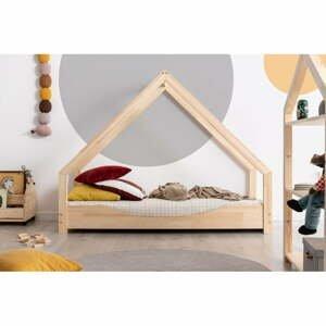 Domečková dětská postel z borovicového dřeva Adeko Loca Elin,100x140cm