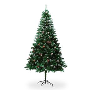 Umělý vánoční stromek se šiškami, výška 2,1 m