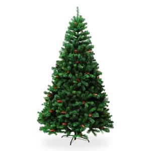 Umělá vánoční borovice se šiškami, výška 2,1 m