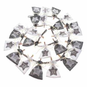 Textilní adventní kalendář z pytlíků Dakls, délka 68 cm