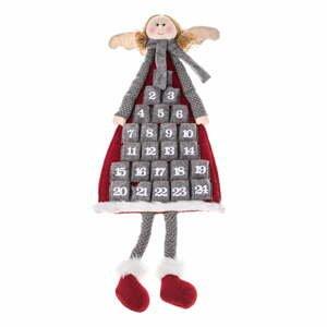 Textilní závěsný adventní kalendář ve tvaru anděla Dakls, délka 110 cm