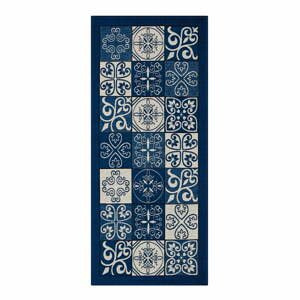 Modrý běhoun Floorita Maiolica, 55 x 240 cm